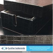 Caja Blindada - Grabado Piel Cocodrilo Negro